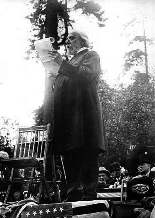 James J. Hill reading a speech on the opening day of the A.Y.P.E.