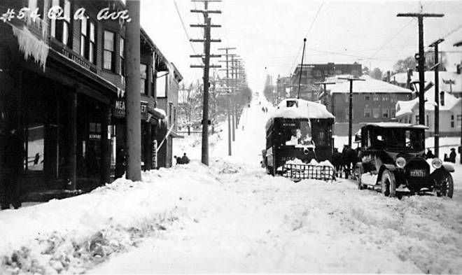 Queen Anne Ave. N. after a snowstorm, winter 1916