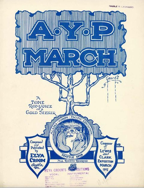 Sheet music cover for AYP March