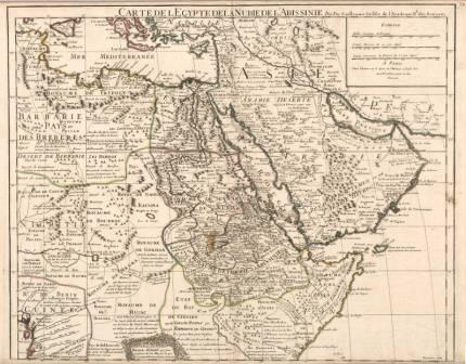 Carte De L'Egypte De La Nubie De L'Abissinie by Guillaume de Lisle. 18th Century. Held by UW Libraries, Special Collections.