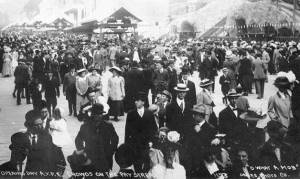 Opening day crowd at the Pay Streak, Alaska Yukon Pacific Exposition