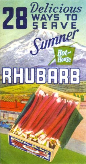 28 Delicious Ways to Serve Sumner Hot-House Rhubarb front cover