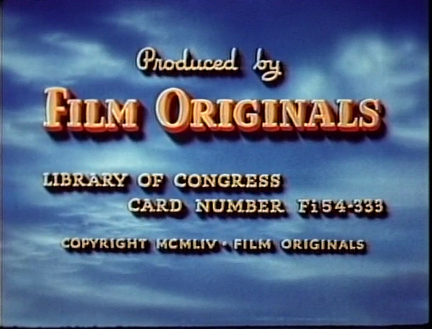 Movie title screen for Film Originals production credits