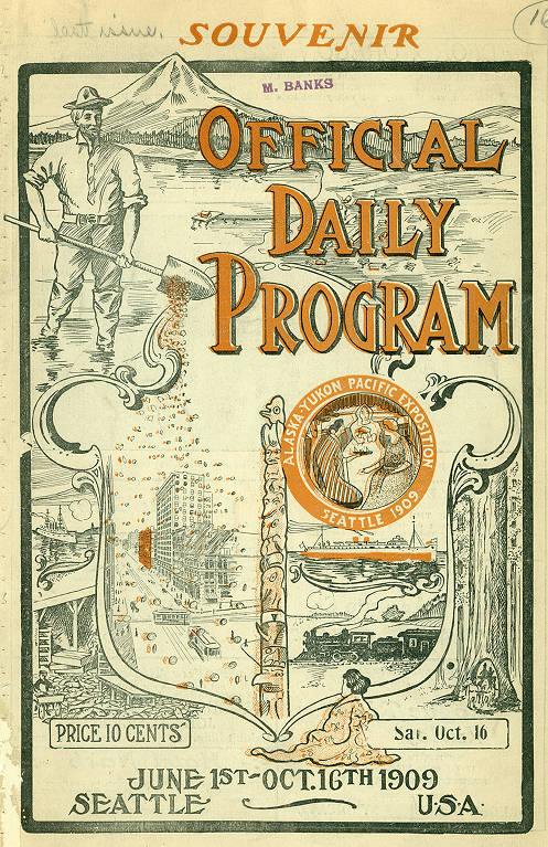 Front cover of final edition of the AYP Official Daily Program (Oct. 16, 1909)