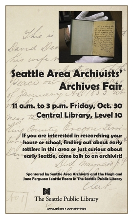 Poster for 2009 Seattle Archives Fair