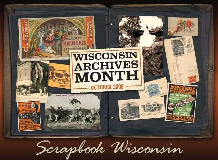 Poster for Wisconsin Archives Month 2009