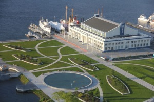 Aerial view of MOHAI, October 10, 2012